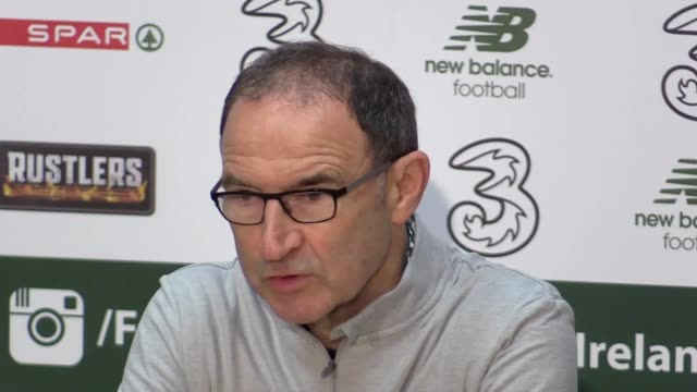 republic of ireland manager martin o'neill and midfielder david meyler's press conference at abbotstown dublina head of the team's world cup... - moldova stock videos and b-roll footage