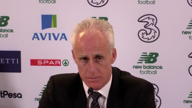 republic of ireland manager mick mccarthy press conference following their 3 1 victory over new zealand in an international friendly at the aviva... - thunderstorm stock videos & royalty-free footage