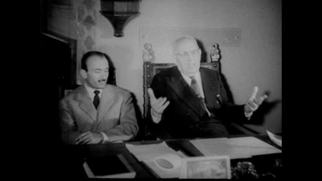 / republic of san marino is claimed by two rival governments, one communist, one democratic, after a disputed election / san marino citizens and... - 1957 stock-videos und b-roll-filmmaterial