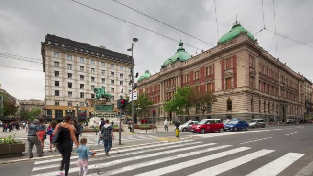 republic square, belgrade - serbia stock videos and b-roll footage