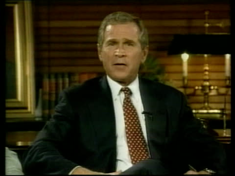 republican convention/protests republican convention/protests pool via reuters bush on large stage screen at convention ms bush speaking on screen - reuters stock videos & royalty-free footage