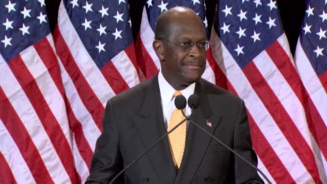 republican herman cain insisted tuesday he could not remember meeting a woman who has accused him of groping her in the 1990s as a spiraling scandal... - gebot stock-videos und b-roll-filmmaterial