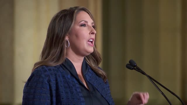 republican national committee chair ronna mcdaniel says in remarks to the 2020 republican national convention that if one watched the dnc the week... - small stock videos & royalty-free footage