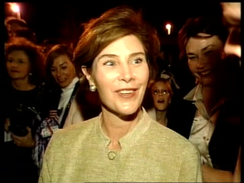 republican nomination: bush takes south carolina:; itn usa: south carolina: laura bush interview sot - its a long primary and we know that - laura bush stock videos & royalty-free footage