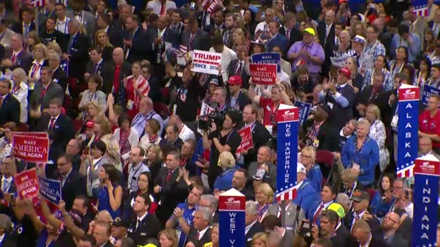 Republican presidential candidate Donald Trump begins his acceptance speech at the convention telling delegates that in 2009 ISIS was not a threat...