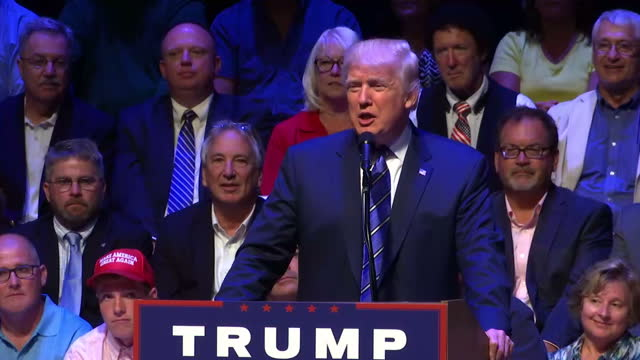 republican presidential candidate donald trump has had a tough week and a number of polls now put his democratic opponent hillary clinton in the lead... - us republican party 2016 presidential candidate stock videos & royalty-free footage