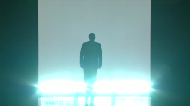 republican presidential candidate donald trump walks out on stage at the republican national convention to we are the champions by queen. - politische wahl stock-videos und b-roll-filmmaterial