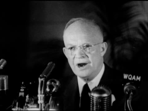 republican presidential candidate dwight 'ike' eisenhower speaking about prosperity without war, economy & inflation, socialism. campaign, speech,... - socialism stock videos & royalty-free footage