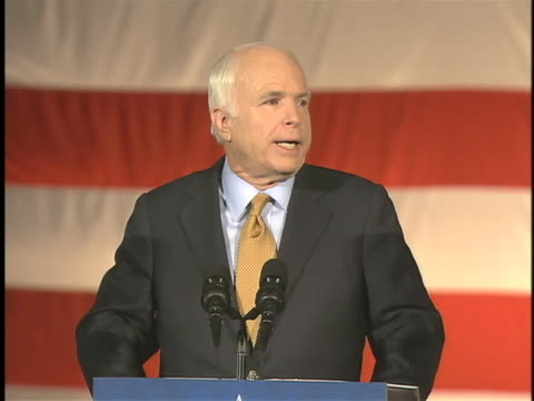 republican presidential candidate john mccain delivers his presidential concession speech in phoenix, arizona. - john mccain stock videos & royalty-free footage