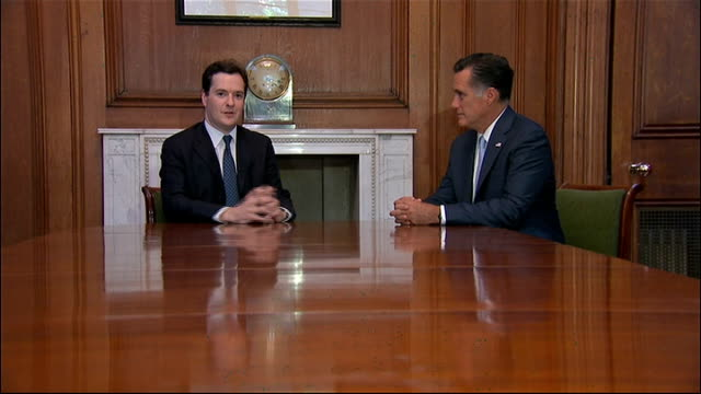 republican presidential candidate mitt romney visits london meets george osborne england london downing street number 11 photography*** mitt romney... - number 11 stock videos and b-roll footage