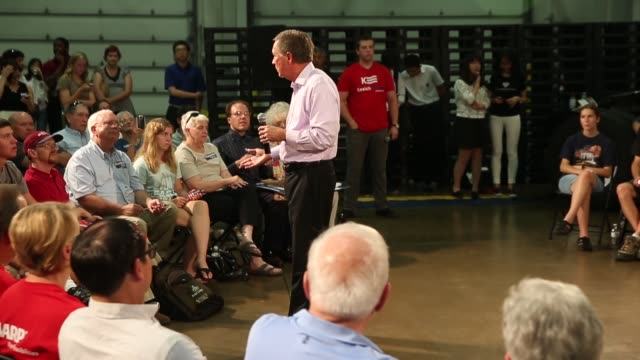 republican presidential candidate ohio governor john kasich speaks to guests gathered for a town hall meeting at doll distributing on july 24 2015 in... - town hall meeting stock videos and b-roll footage