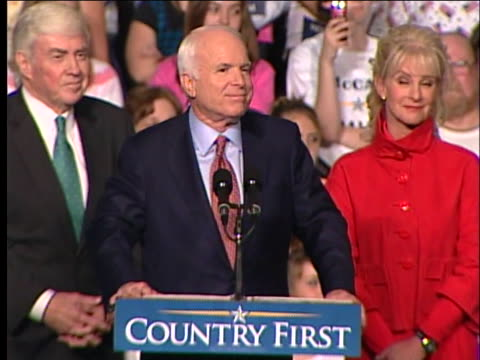 republican presidential candidate senator john mccain addresses a crowd during a campaign rally in dayton, ohio. - dayton ohio stock videos & royalty-free footage