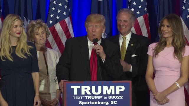 republican presidential frontrunner donald trump grabs a big win in the south carolina primary while democrat hillary clinton breathes life into her... - south carolina stock videos & royalty-free footage