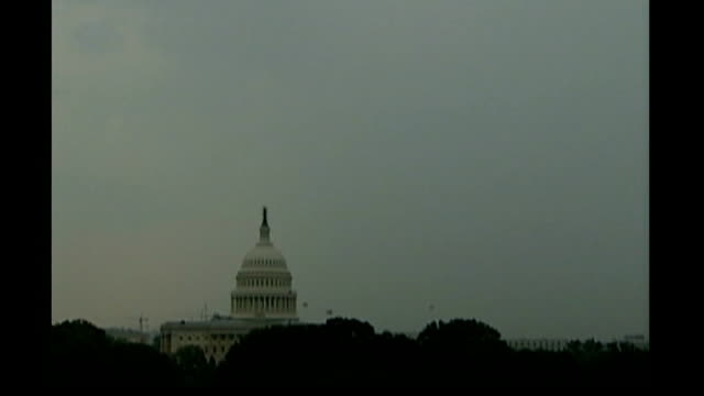 republican rebellion against president bush's policy on iraq graphicised sequence united states capitol as lightning strikes united states capitol... - lightning strike stock videos and b-roll footage