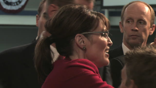 republican vice-presidential candidate governor sarah palin signing autographs at presidential campaign event on september 9, 2008 / lancaster,... - 2008 stock videos & royalty-free footage