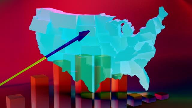 vídeos y material grabado en eventos de stock de mapa de los republicanos ee.uu. - partido republicano norteamericano