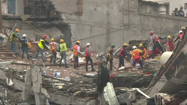 Rescue operations were still underway at a quake toppled building on Alvaro Obregon Avenue on Tuesday one week after a 71 magnitude quake rocked...