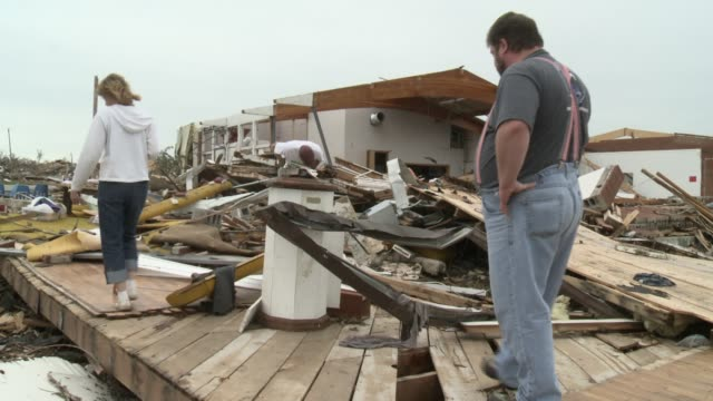 rescue recovery efforts underway in joplin missouri businesses churches homes destroyed by 200 mile per hour winds of ef 5 tornado vounteers arrive... - 2011 stock videos & royalty-free footage