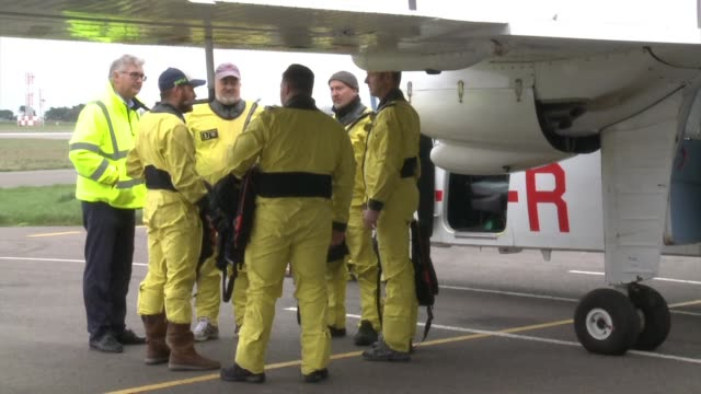 rescue workers on the british island of guernsey resume the hunt for a missing plane carrying new premier league player emiliano sala who is feared... - guernsey stock videos & royalty-free footage