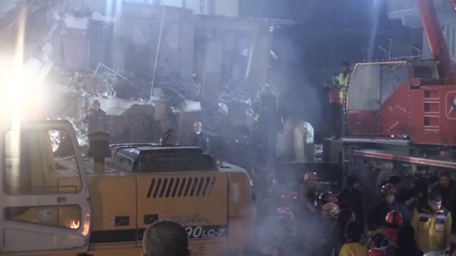 rescue workers retrieve a body from the rubble of a building destroyed in friday's earthquake in elazig, eastern turkey on january 27, 2020. the... - friday stock videos & royalty-free footage