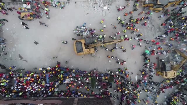 rescuers dug wednesday for survivors of a 71 magnitude earthquake that killed at least 230 people in mexico - earthquake stock videos and b-roll footage