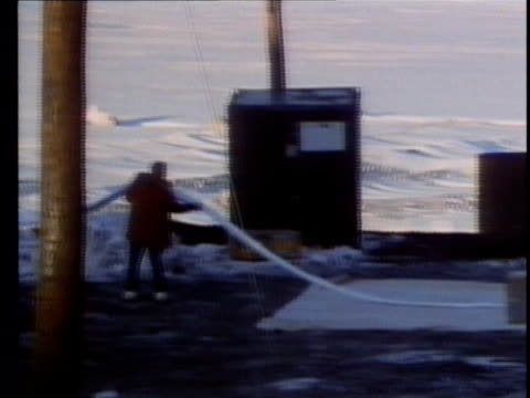 1990 montage research center studying disappearance of ozone layer of atmosphere with balloon, antarctica, audio - 1990 stock videos & royalty-free footage