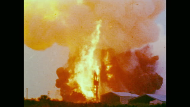 A research vehicle explodes mid air as the pilot parachutes to safety a shuttle ignites into roaring flames on the launchpad and NASA scientists...