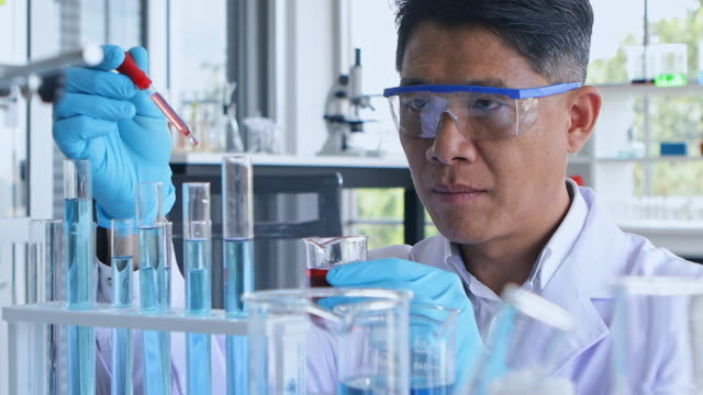 researchers are experimenting with chemical structure formulas for cosmetic product research. - alternative therapy stock videos and b-roll footage