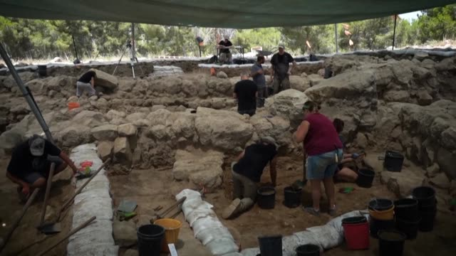 researchers in israel say they have pinpointed the site of an ancient philistine town mentioned in the biblical tale of david seeking refuge from the... - biblical event stock videos & royalty-free footage
