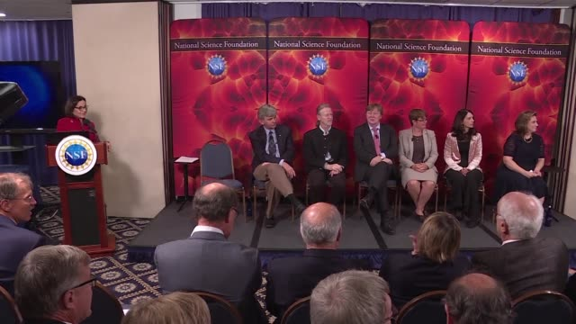 Researchers reveal at a press conference in the US capitol that scientists have for the first time witnessed the crash of two ultra dense neutron...