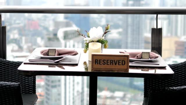 予約済みレストラン - 席点の映像素材/bロール