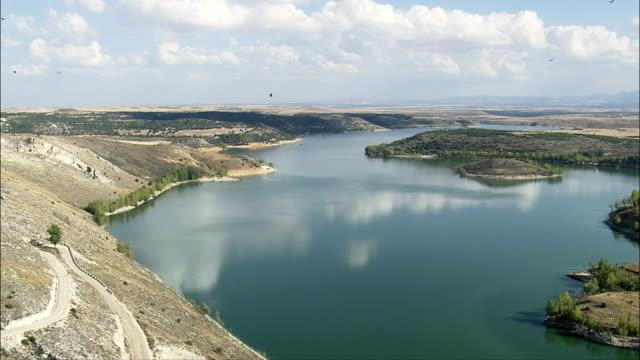 Reservoir - Aerial View - Castille and León, Segovia, Maderuelo, Spain