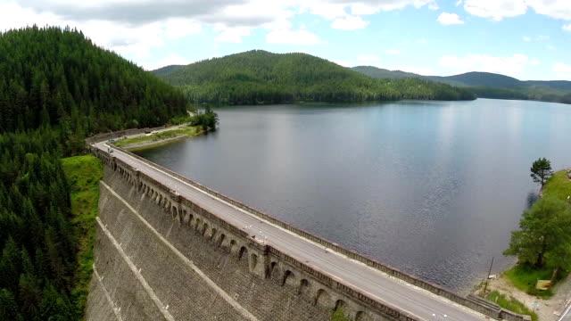 Reservoir Dam Aerial Shot
