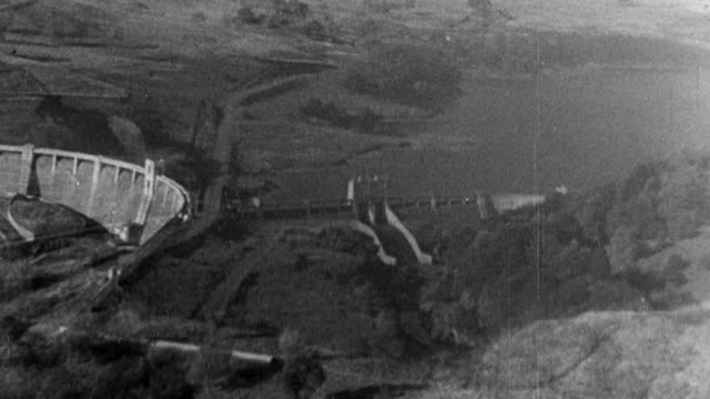 1949 montage reservoirs collecting and storing rainwater / galloway, scotland, united kingdom - galloway scotland stock videos & royalty-free footage