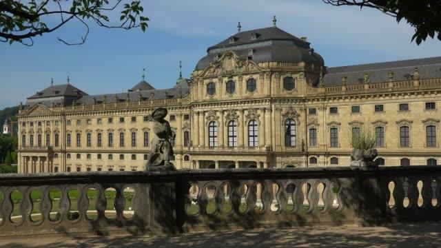 residence and hofgarten, wuerzburg residence, wuerzburg, lower franconia, bavaria, germany - male likeness stock videos & royalty-free footage