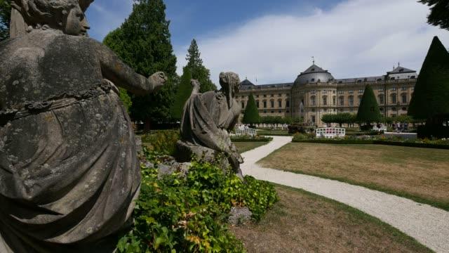 residence and hofgarten, wuerzburg residence, wuerzburg, lower franconia, bavaria, germany - female likeness stock videos & royalty-free footage