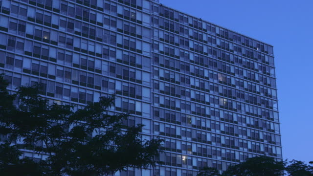 ws residental highrise night - day and night image series stock videos & royalty-free footage