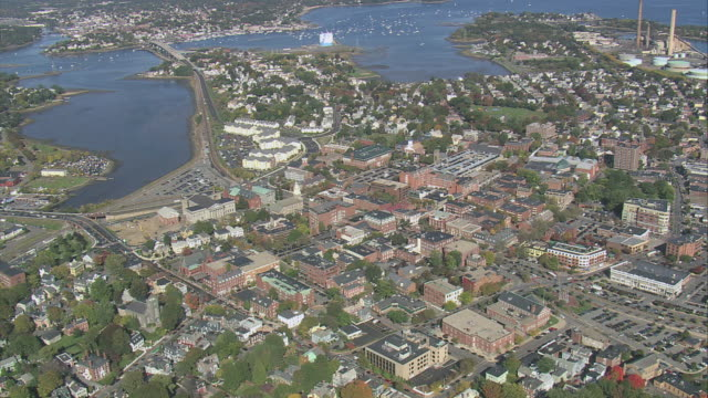 aerial residential and tourist town of salem / massachusetts, united states - salem massachusetts stock videos & royalty-free footage