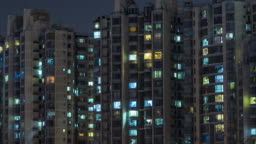T/L CU HA ZO Residential Area at Night, Beijing