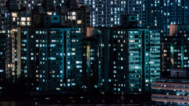 t/l td residential area at night - real estate stock videos & royalty-free footage