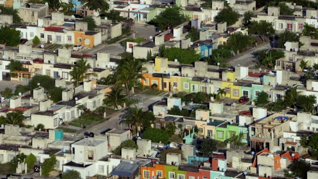 residential area in cancun mexico - 北半球点の映像素材/bロール