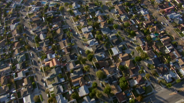 residential area in los angeles suburb - repetition stock videos & royalty-free footage