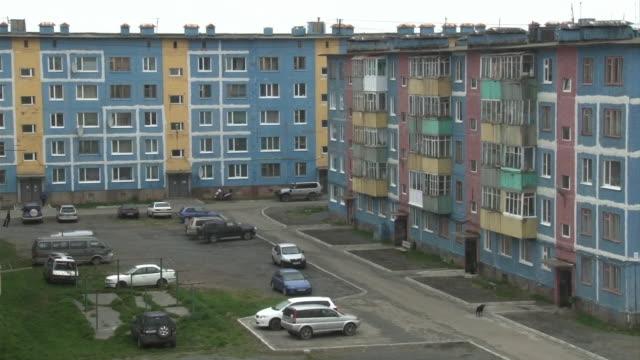 Residential Area In Ust-Kamchatsk, Kamchatka, Russia