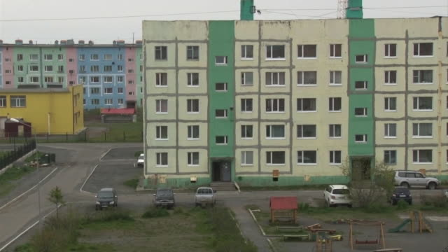Residential Area In Ust-Kamchatsk, Kamchatka, Russia