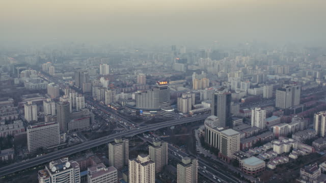 T/L WS HA PAN Residential Building and city Traffic in air pollution / Beijing, China