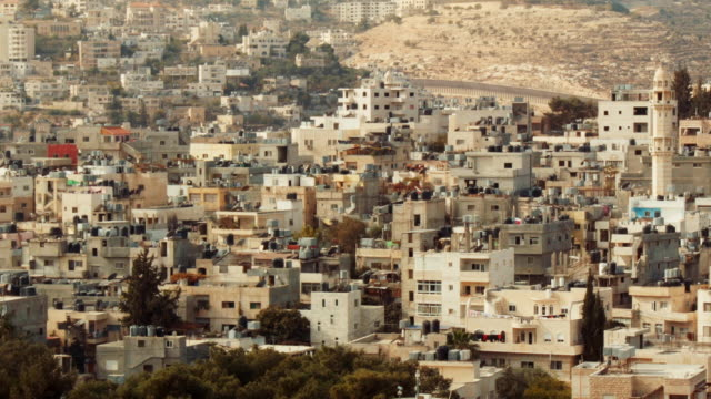 residential district in bethlehem, palestine, middle east. - apartheid stock videos and b-roll footage