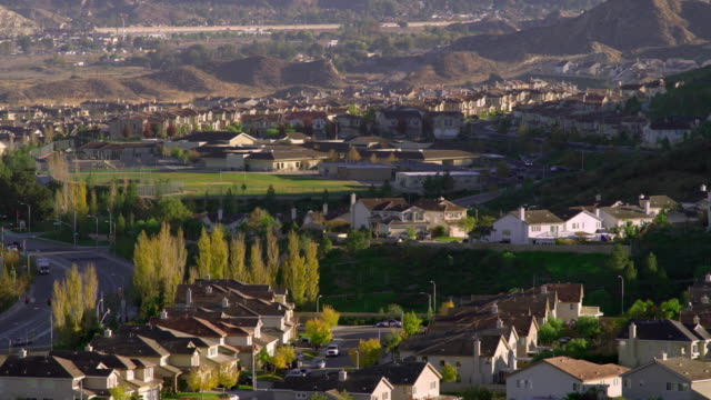 ws ha residential district, palmdale, california, usa - palmdale stock videos and b-roll footage