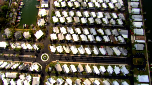aerial, residential district, tampa, florida, usa - tampa stock videos & royalty-free footage