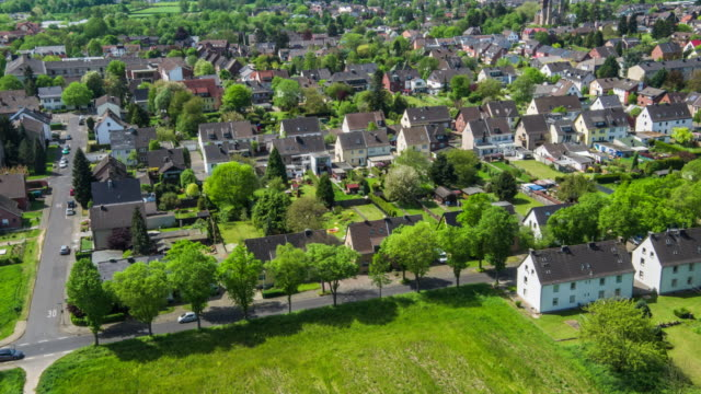 AERIAL: Residential district with town houses