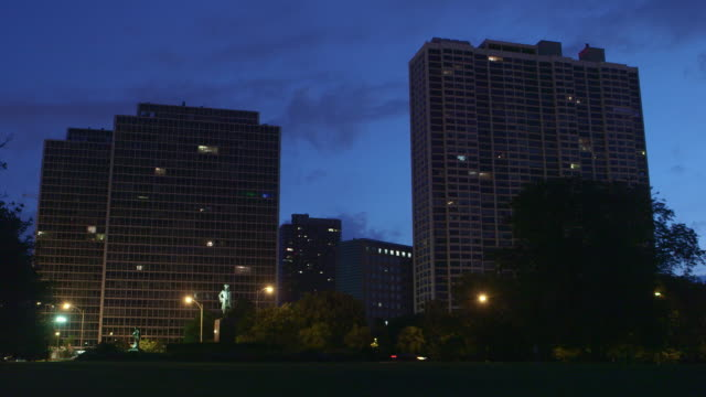 ws residential highrises night - low angle view stock videos & royalty-free footage